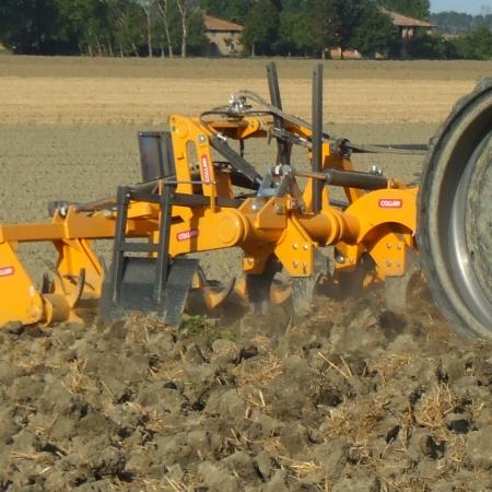 Collari EPRSC + ERSC Estirpatore + Sezione Posteriore a Rulli, Grubber + Rear Double roller section